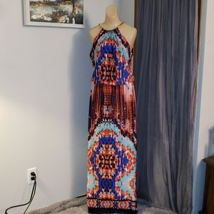 BNWT Prelude Halter Maxi Dress With Coil Neck